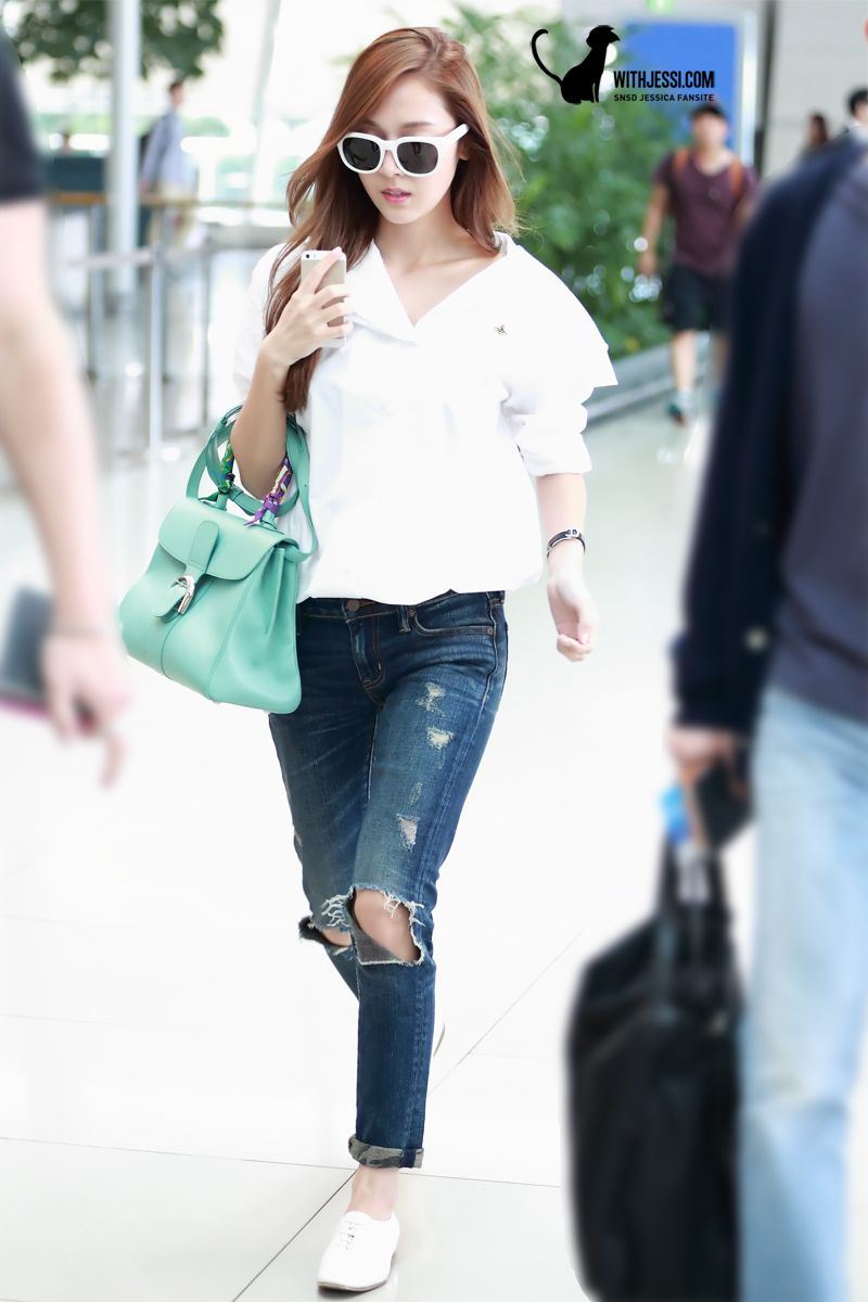 snsd jessica airport fashion 140902 2014 snsd airport
