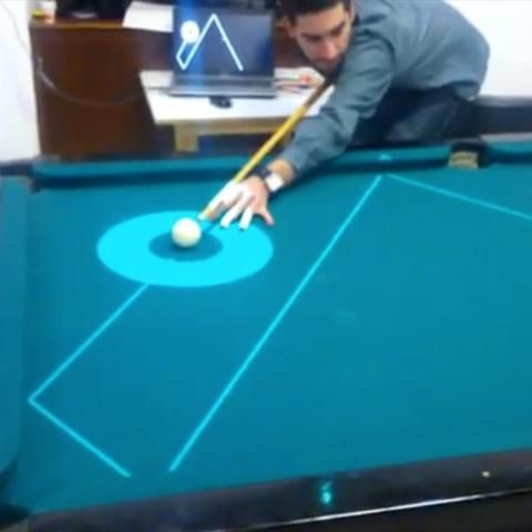 Projector Digitally Aligns Your Billiard Shots In Real Time Billiards Cool Technology Technology