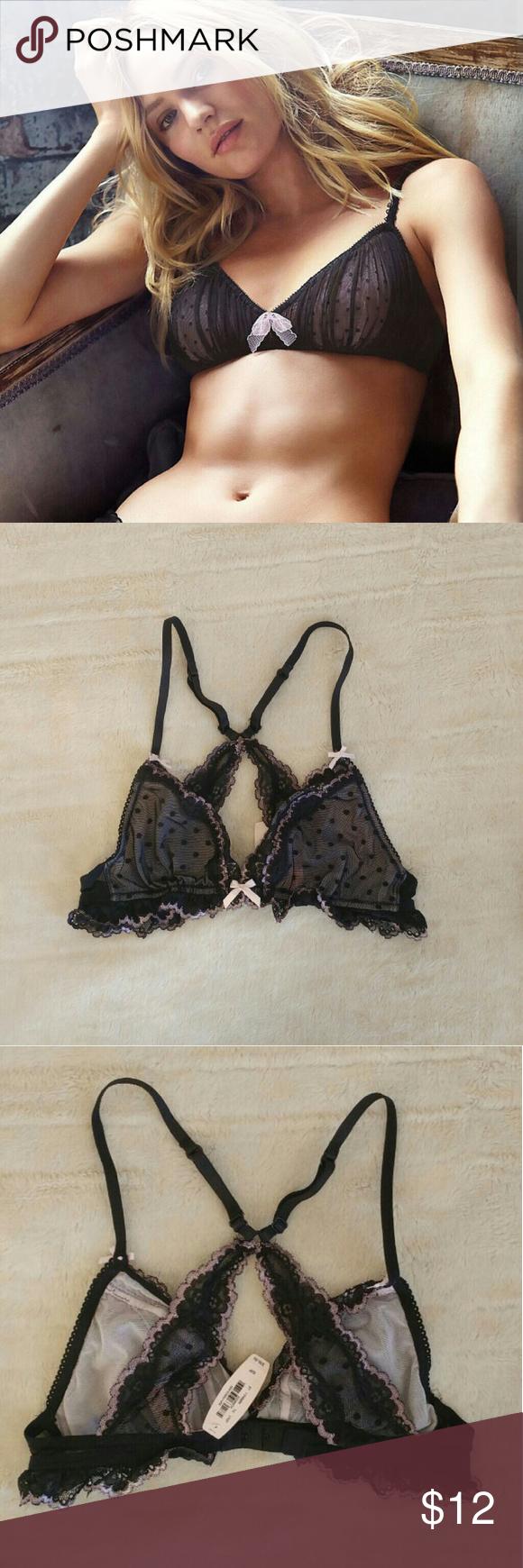 NWT VS Small Polka Dot Bralette NWT VS Small Polka Dot Bralette *PRICE FIRM* Victoria's Secret Intimates & Sleepwear Bras