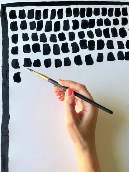 How to Make an Anthropologie Pointillism Wall Art