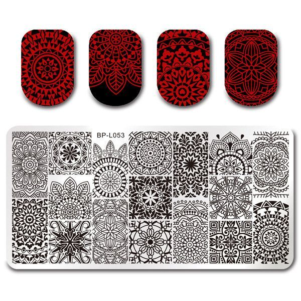 BORN PRETTY 1 Pc Rectangle Nail Stamping Plate Nail Art Stamping ...