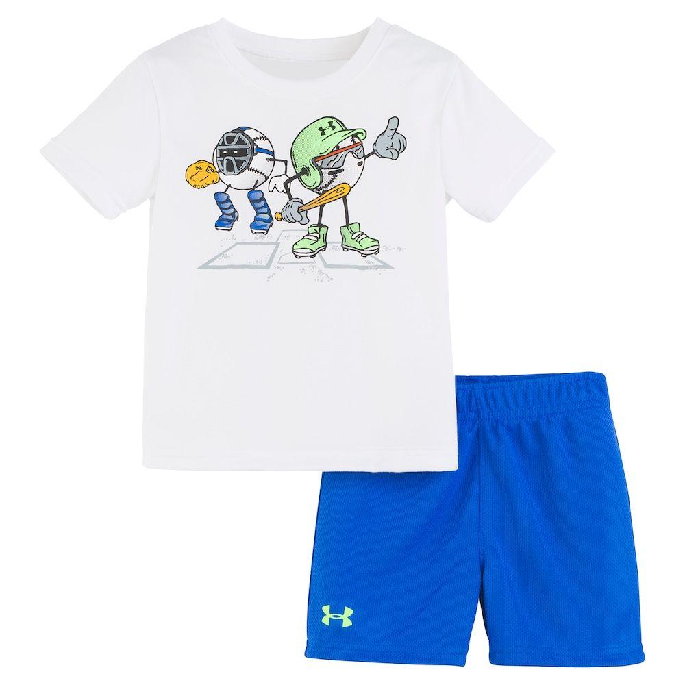 7198ae6db4 Baby Boy Under Armour Ballers Logo Tee & Shorts Set, Infant Boy's ...