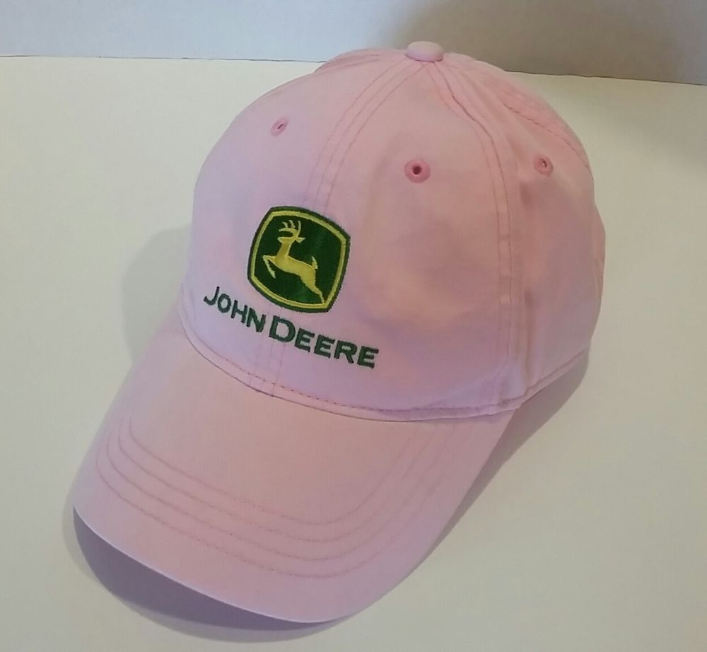 303846be JOHN DEERE Pink & Green Women's Baseball Hat ONE SIZE Nothing Runs Like A  Deere #JohnDeere