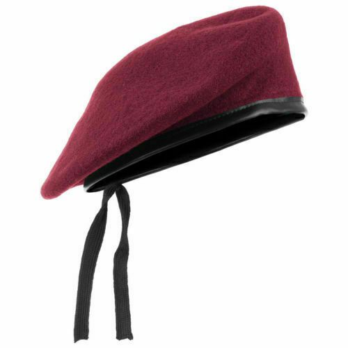 823bae0a2618d New WOOL Mens Ladies Red Beret Hat Cap Army Military - Fashion or Fancy  Dress