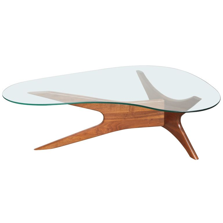 mid century adrian pearsall kidney shaped coffee table