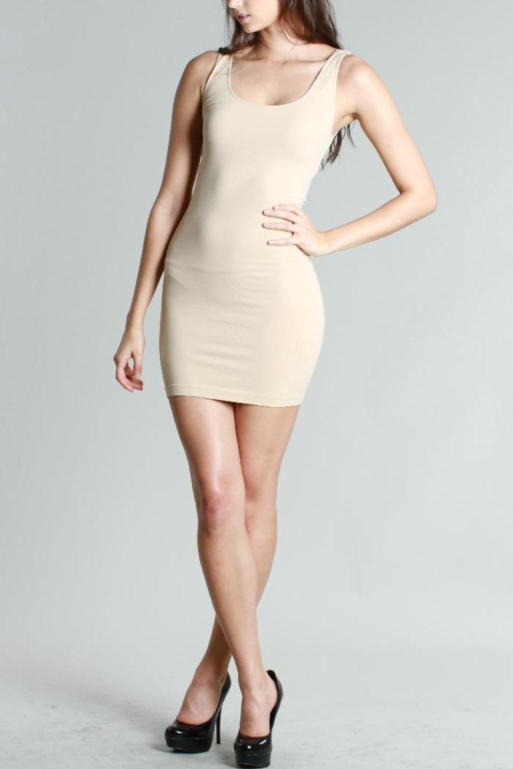 Scoop Mini Satin Tank Dress