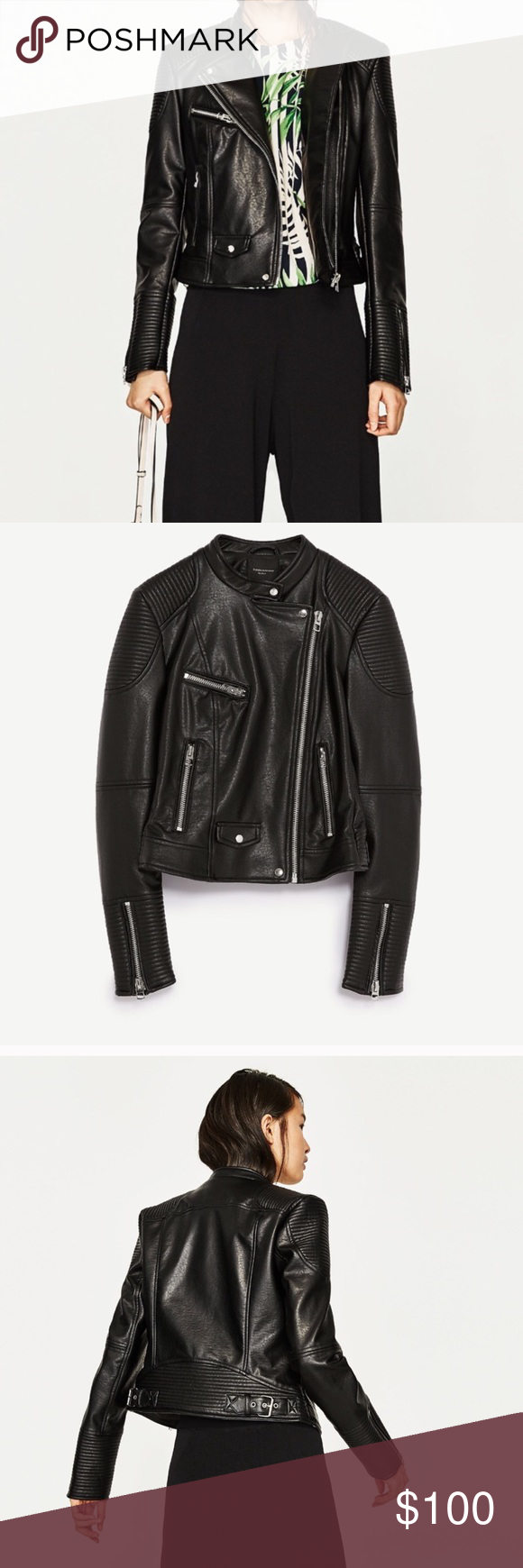 Zara faux leather jacket Rare leather jacket Zara Jackets