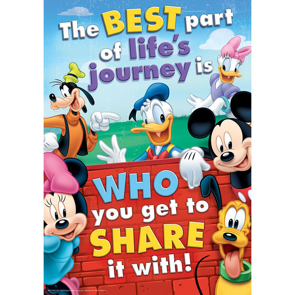 Mickey Mouse Clubhouse® Friendship Classroom Poster   Eureka School