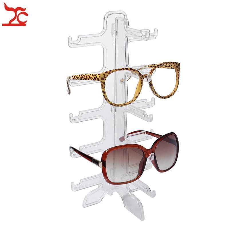 Portable Clear Acrylic Glasses Display Rack 5 Pairs Sunglasses Show ...