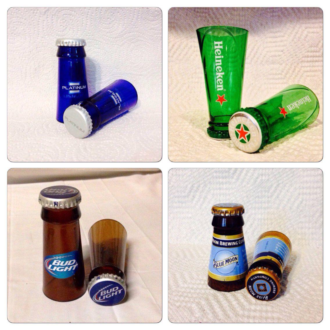 Beer Bottle Shot Glasses Gifts for Men Boyfriend Gift | Etsy