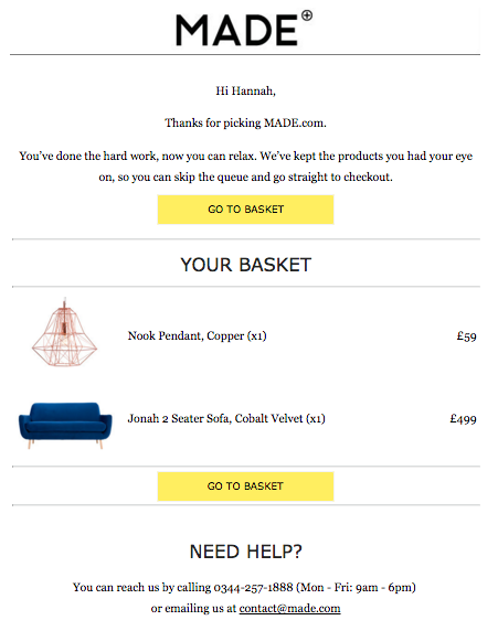 Cart Abandonment  Email Template Design Ideas    Email