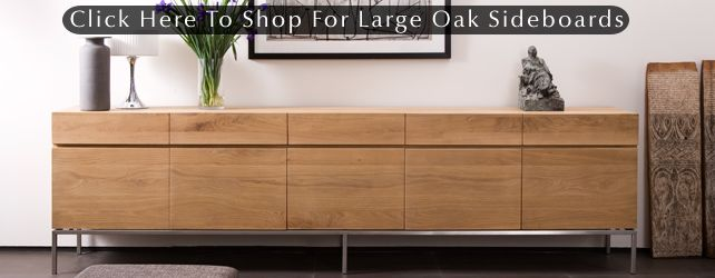 Long Low Sideboard Large Oak Sideboards At 4 Living Mobilier