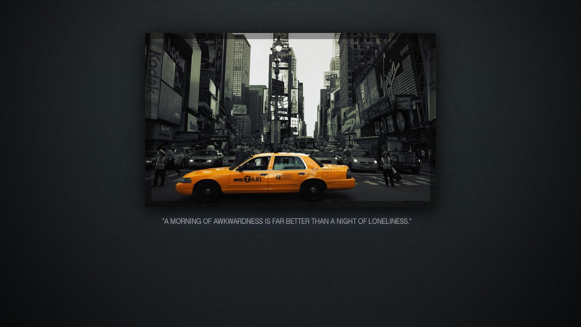 Yellow Quotes New York City Taxi Cab Noise Wallpaper Taxi Cab Taxi New York City