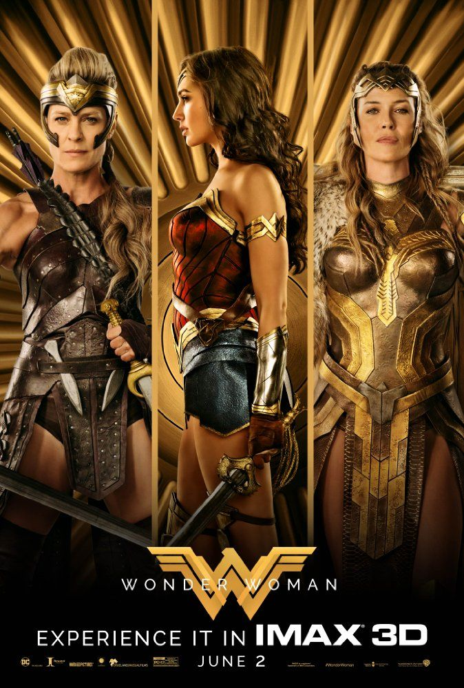 Wonder Woman 2017 Poster Connie Nielsen Gal Gadot And Robin Wright