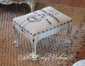 Flea Market Footstools Modern Upholstery Fabric Living Room