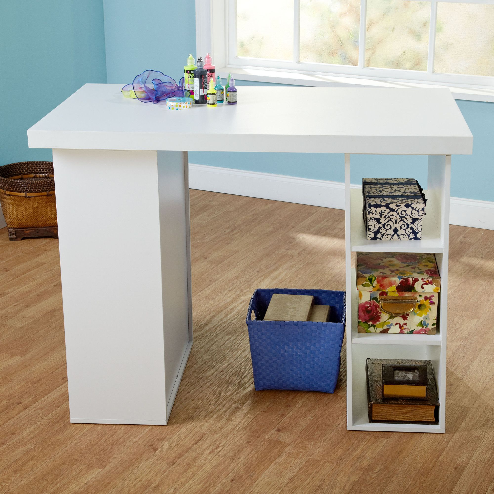 Tms Wood Craft Table Craft Tables With Storage Craft Table Home Office Furniture