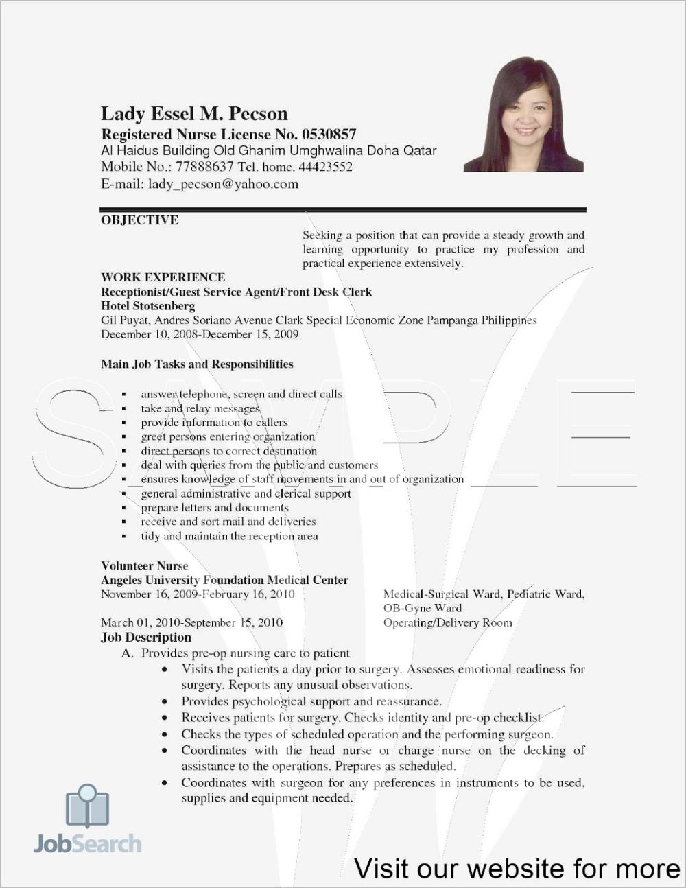 Resume Template High School Pdf