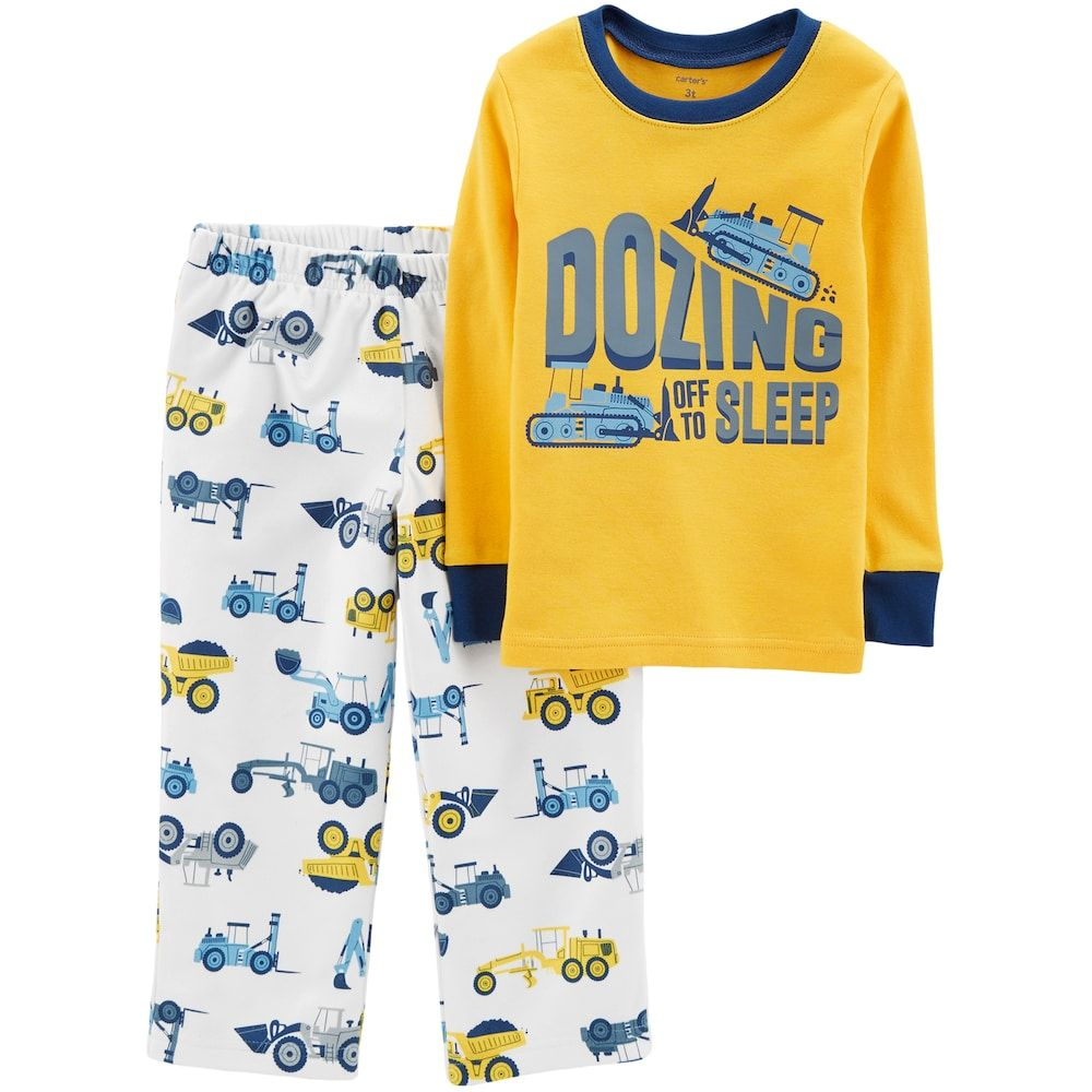 aed0cd188155 Carter s Toddler Boy Top   Fleece Bottoms Pajama Set