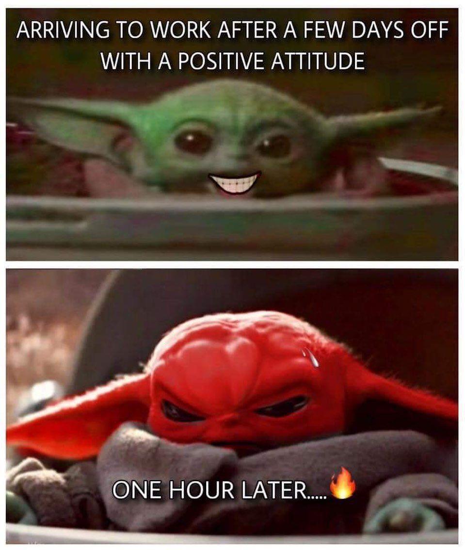 Baby Yoda Work Png In 2020 Yoda Funny Yoda Meme Funny Babies