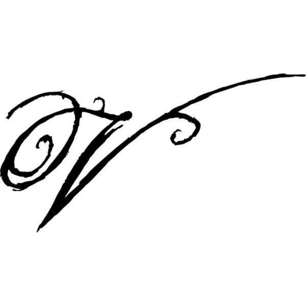 Letter V Font Found On Polyvore