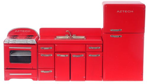 1950s Red Appliance Set 3pc | Red appliances, Miniatures and Dollhouses