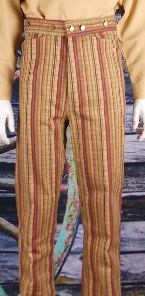 FRONTIER CLASSICS Red Stripe DRIFTER Trousers SASS Steampunk Dickens