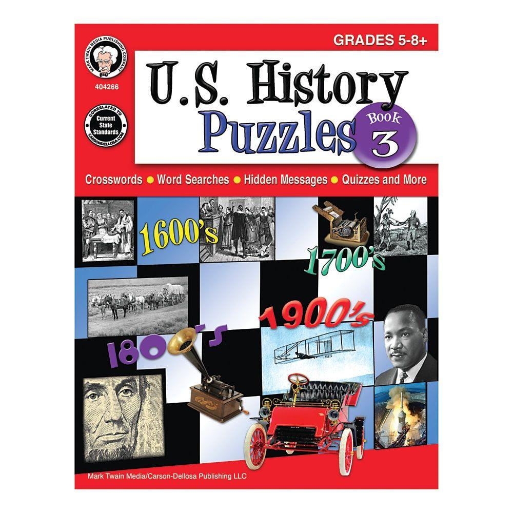 Mark Twain Media U.S. History Puzzles, Book 3, Grades 58