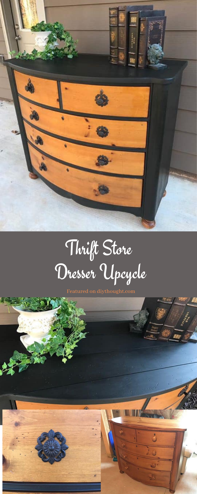 Thrift Store Dresser Upcycle #thriftstoreupcycle