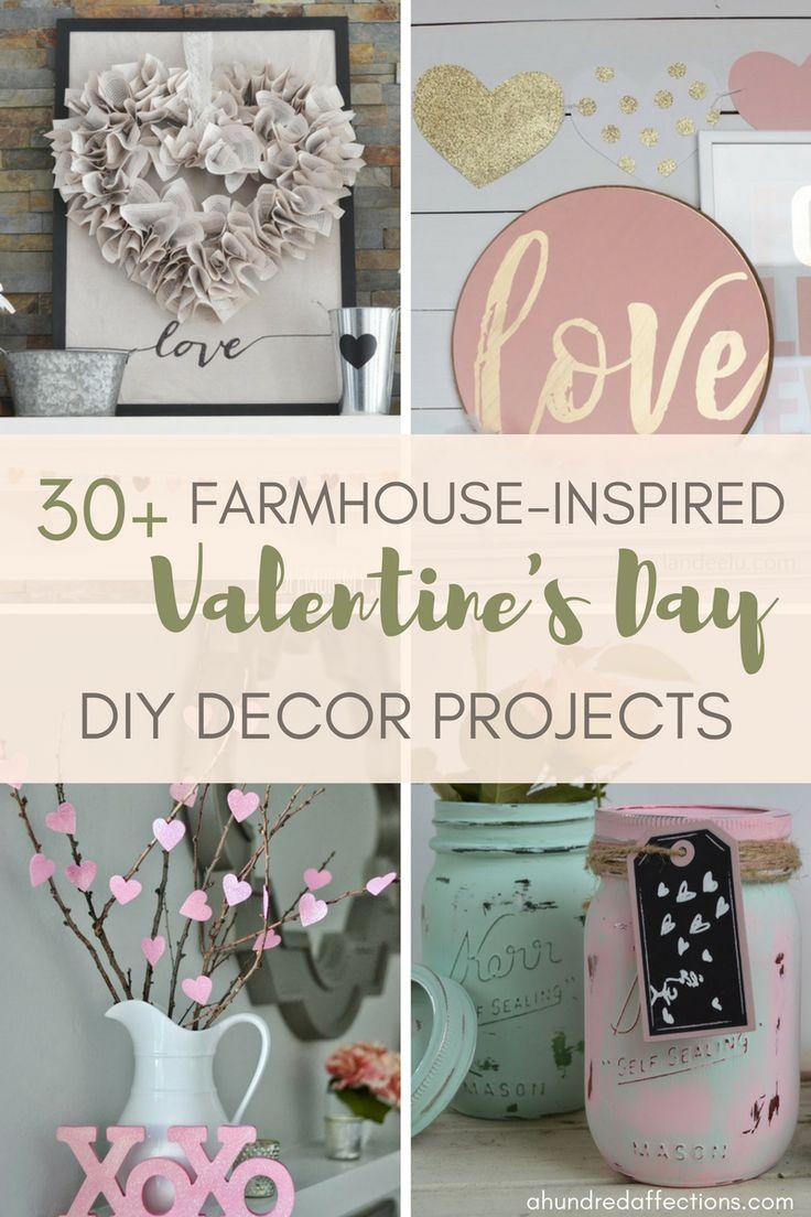 30 Farmhouse Valentine S Day Diy Decor Projects A Hundred Affections Farmhouse Valentine Decor Diy Decor Projects Valentine Decorations