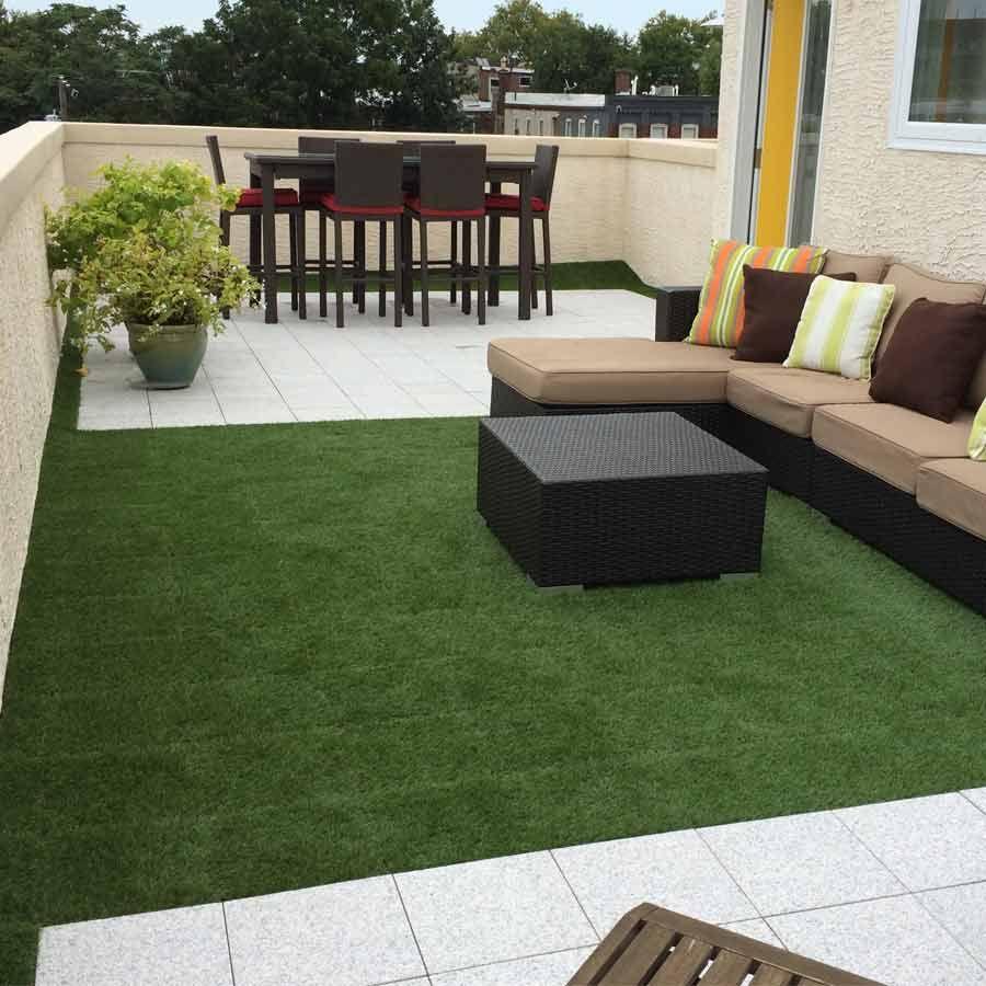Artificial Grass Turf Tile 1x1 Ft 25 Mm Customer Install