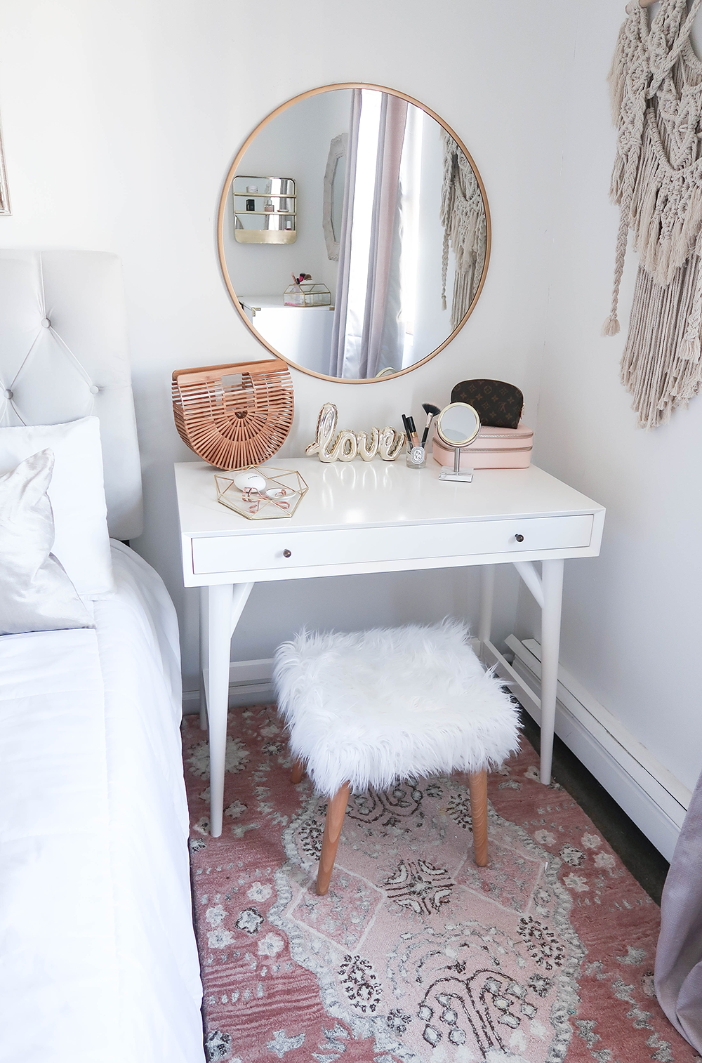 Styling A Vanity In A Small Space Small vanity Bedroom small and