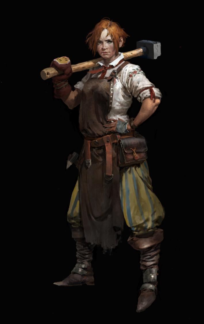 blacksmith concept by CG-sister.deviantart.com on @DeviantArt