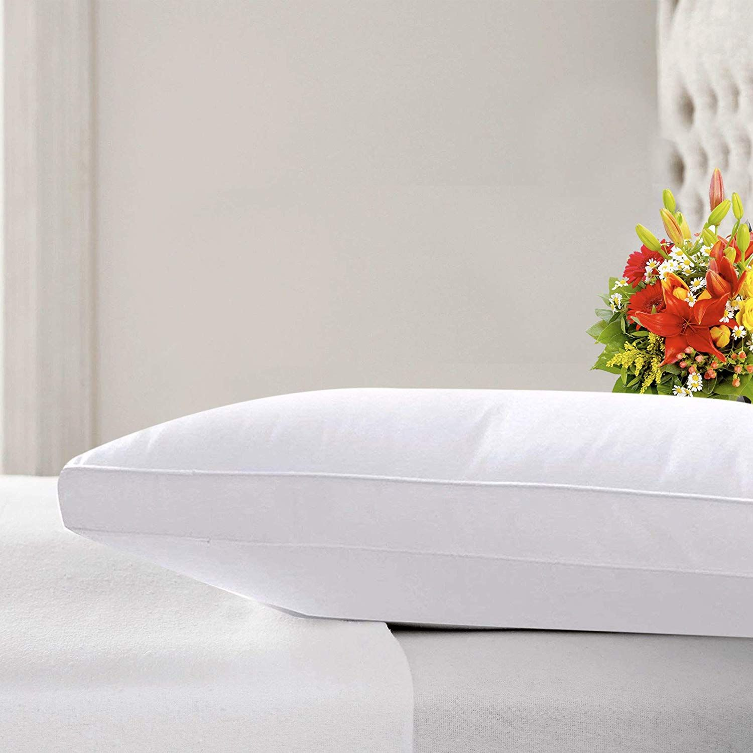Luxury Mulberry Silk Filled Pillow Non Allergenic Pillow 48cm X 74cm With A Egyptian Cotton Protector 80 Pu Standard Pillow Bed Pillows