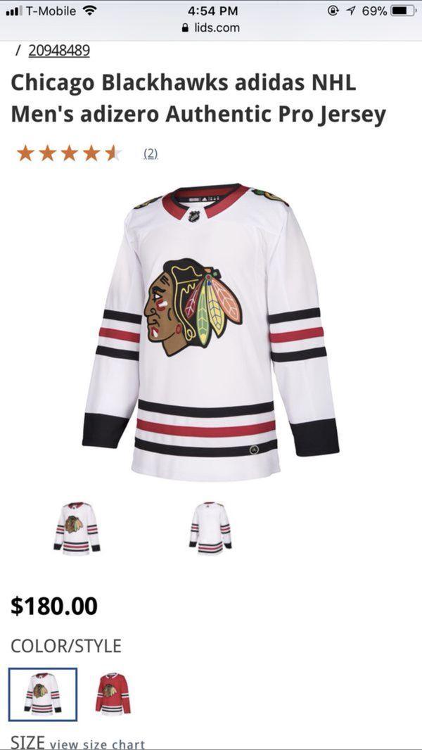 Blackhawks Jersey Adidas Authentic Size 46 Blackhawks Jerseys Sweatshirts Blackhawks Hockey