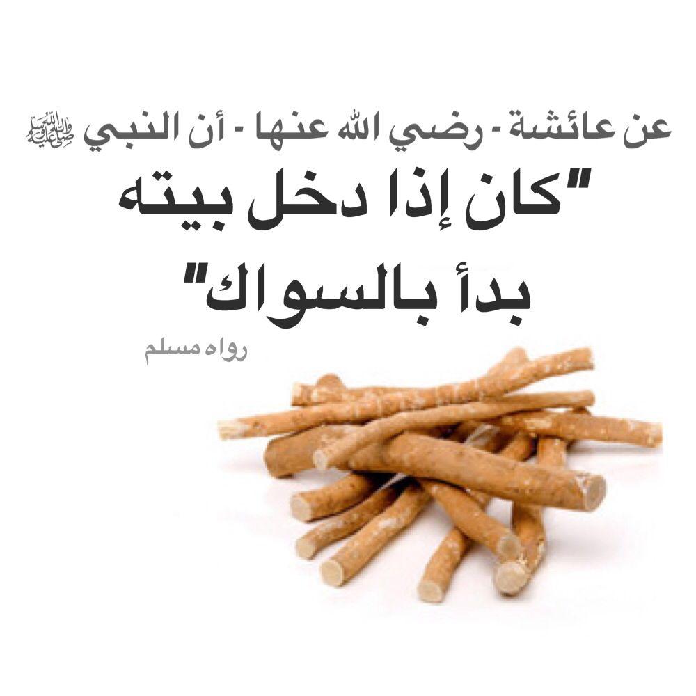 عن عائشة رضي الله عنها أن النبي ﷺ كان إذا دخل بيته بدأ بالسواك رواه مسلم Peace Be Upon Him Peace Islam