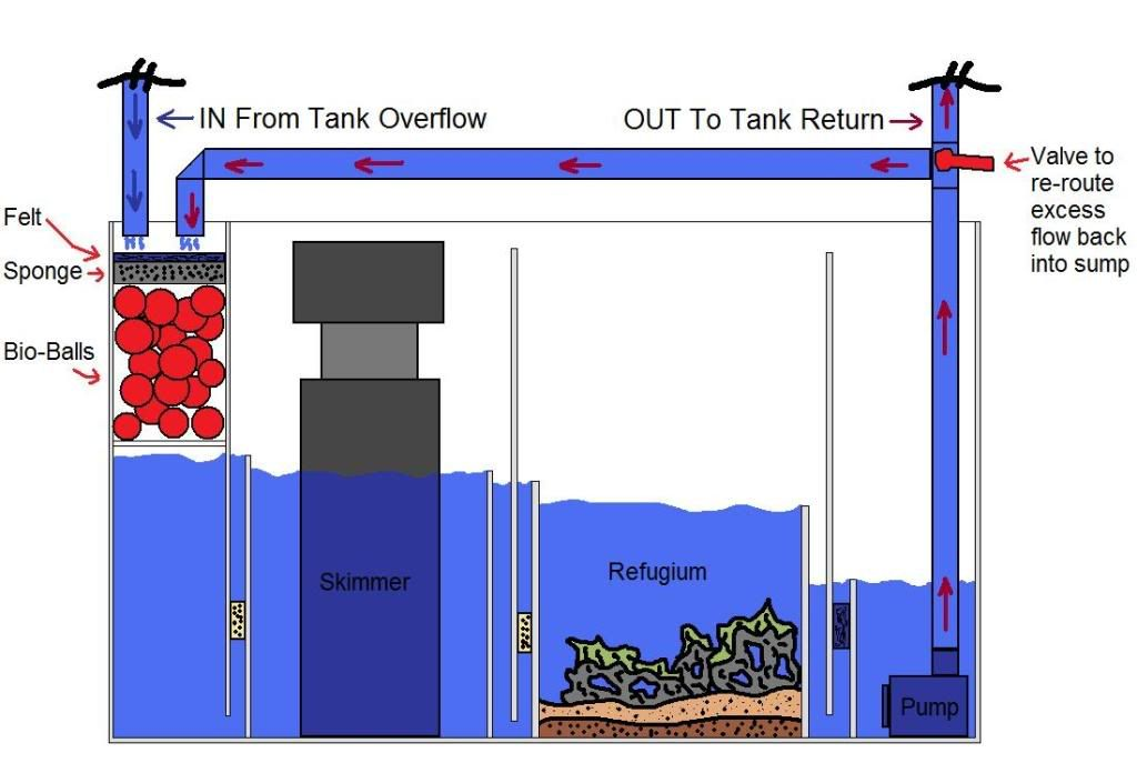 Sump plan | Tank parts and plans | Pinterest | Saltwater ...