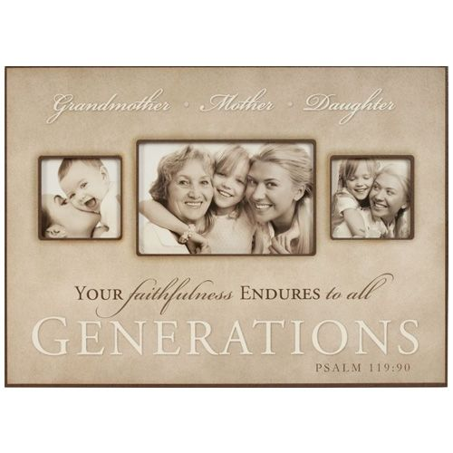 3 generations of women grandmother mother daughter picture frame