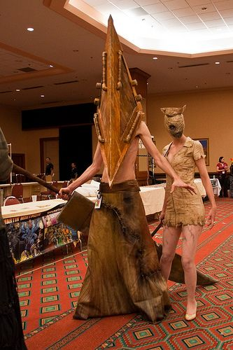 ed1885090482f Cosplay of the Day: Pyramid Head and nurse from Silent Hill | Games