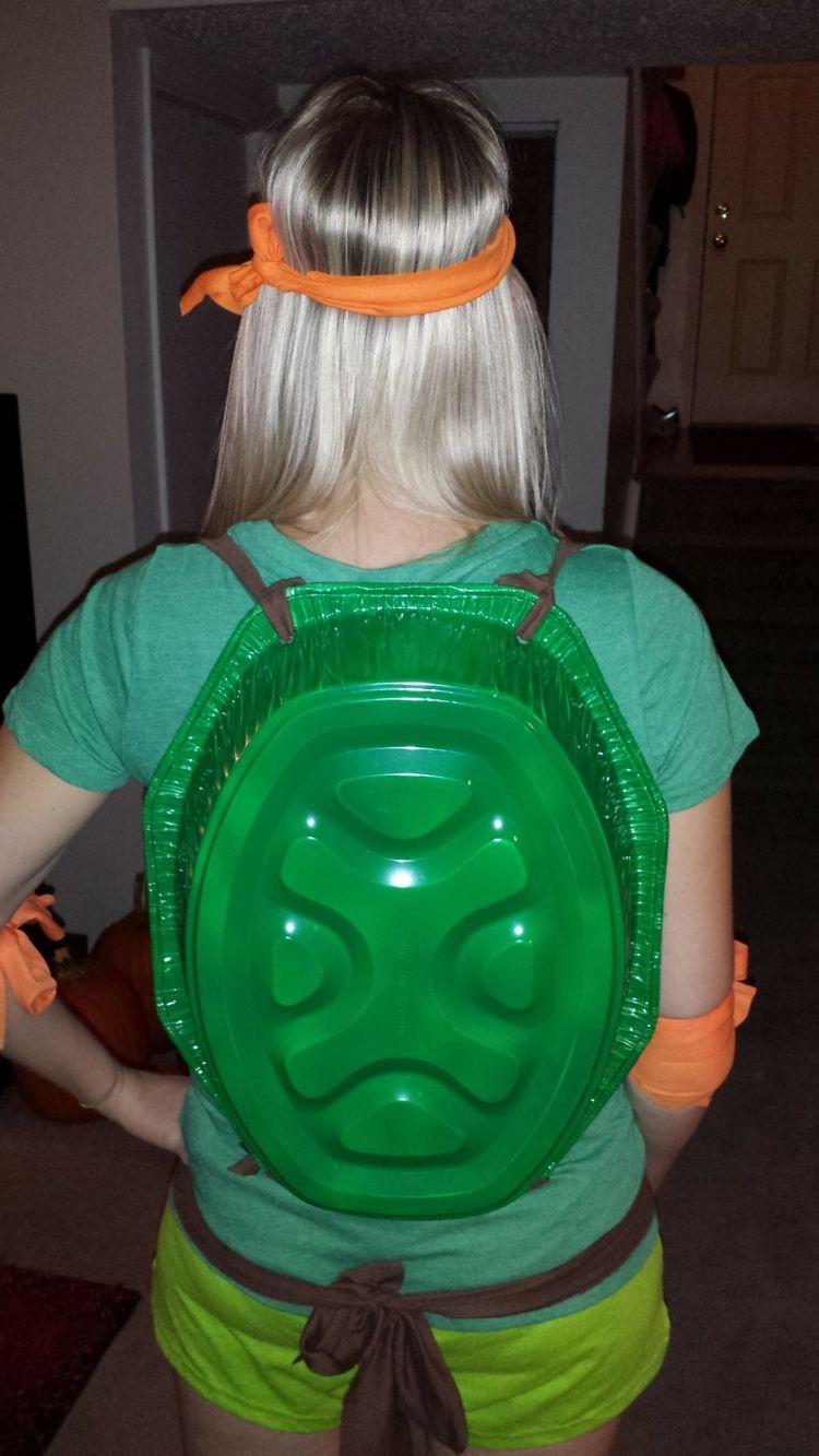 halloween kostueme selber machen roestpfanne-ninja-turtle-panzer ...