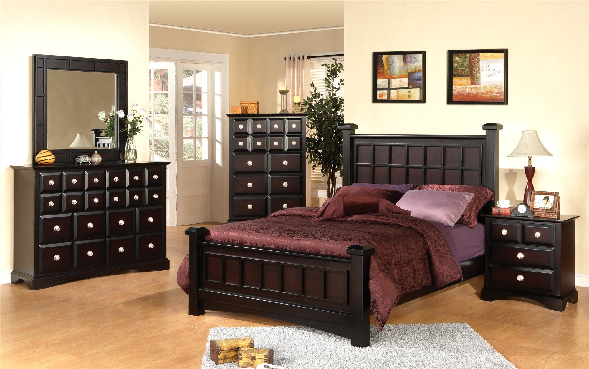 Interesting kathy ireland furniture for home furniture ideas lovely dark brown wooden bed and dresser by kathy ireland furniture on wooden floor with white