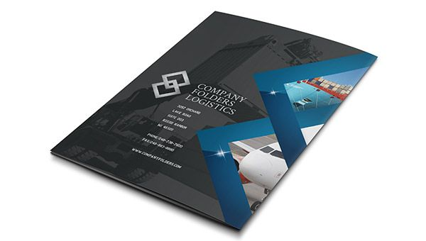 Blue Diamond Logistics Corporate Folder Template Back View