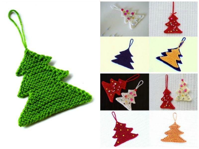 Christmas Tree Ornament Free Knitting Pattern | Pinterest