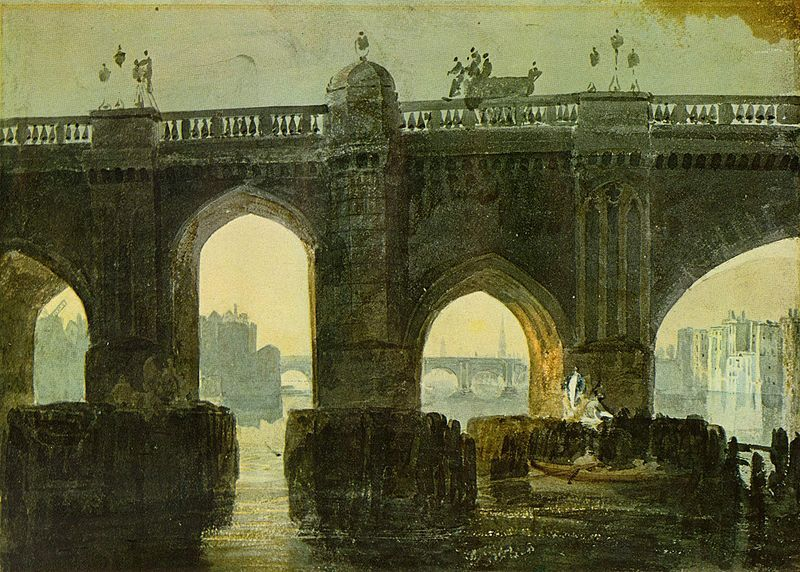 Old London Bridge by Joseph Mallord William Turner