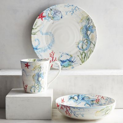 Even if you\u0027re landlocked our Under the Sea ironstone dinnerware will make you & Even if you\u0027re landlocked our Under the Sea ironstone dinnerware ...