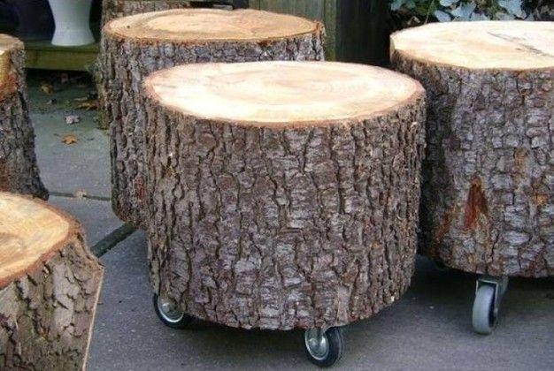 Ceppi e tronchi di legno per arredare casa sgabelli log