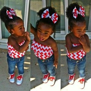 Pretty baby girls with swag