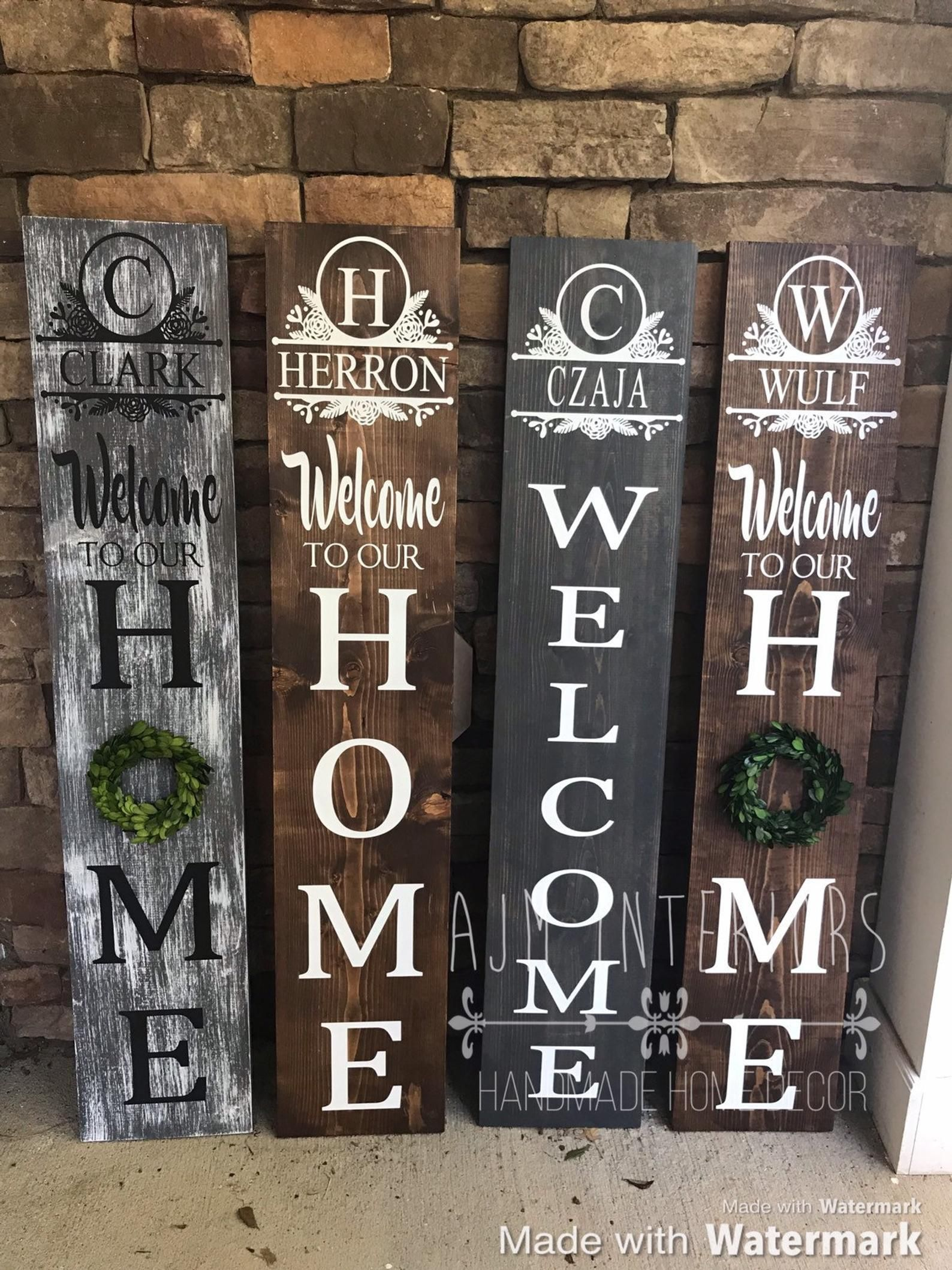 Welcome sign for porch sign | Personalized welcome