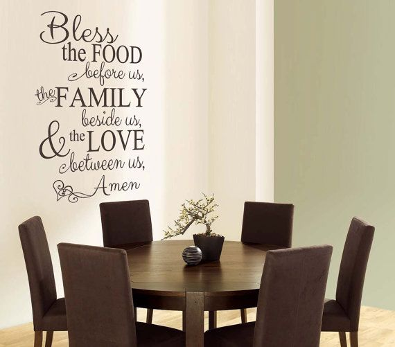 Bless The Food Vertical Vinyl Wall