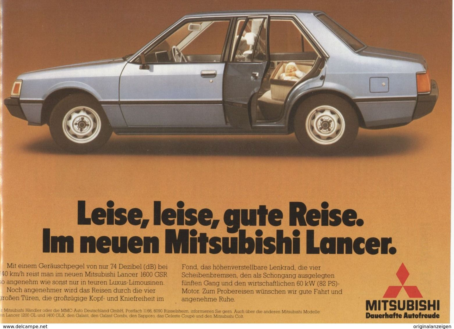 Original Werbung Anzeige 1979 Mitsubishi Lancer Ca 240 X 180