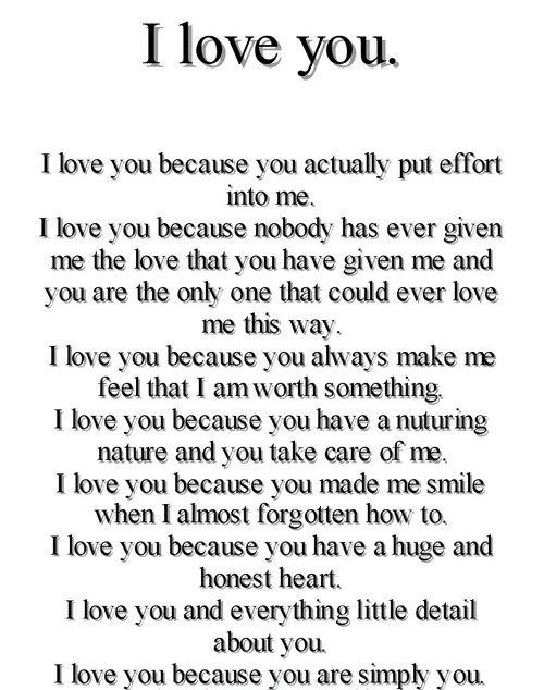 I Love You Because Quotes I love you because love love quotes quotes quote love quote i love  I Love You Because Quotes